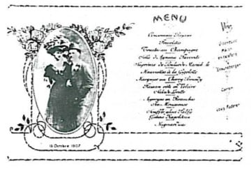 Old menu of Le Richemond